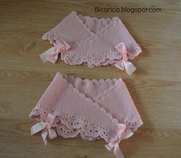 17 mejores ideas sobre mantas para beb s en pinterest - Mantas de punto hechas a mano ...