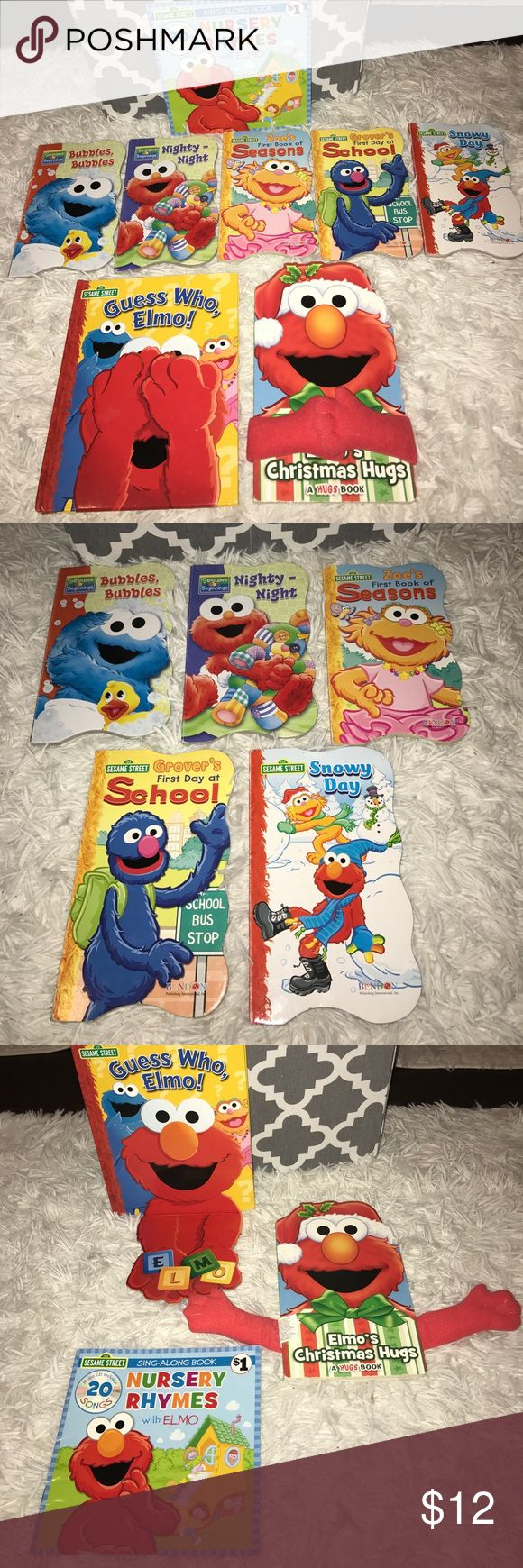 Sesame Street/Elmo Book Bundle! 8 baby/toddler book bundle sure to please any Sesame Street/Elmo lover! Also, check out my listing the Sesame Street toddler bedding listed separately in my closet ;) Sesame Street Other