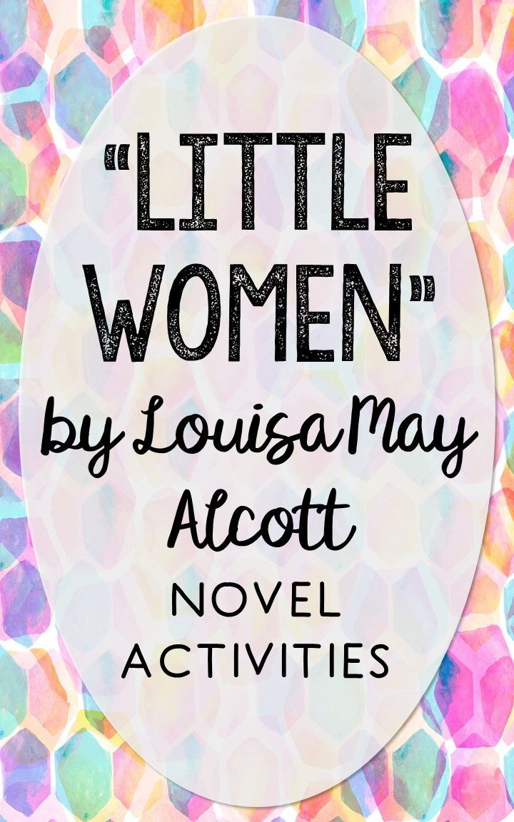 Little Women by Louisa May Alcott. This NO-PREP resource is perfect if you're looking for novel activities that are engaging and demonstrate comprehension WITHOUT multiple choice tests! This unit includes vocabulary terms, poetry, author biography research, themes, character traits, one-sentence chapter summaries, and note taking activities. You'll also find an author quote poster, a tri-fold bookmark, and character/vocabulary wall cards (plus EDITABLE cards!).