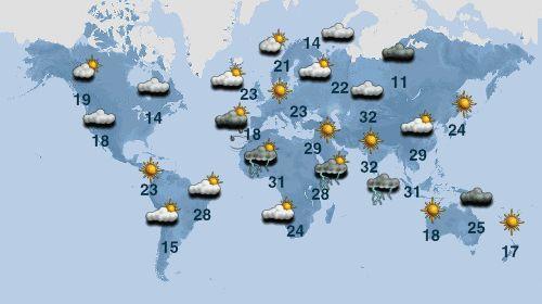 Méteo monde | euronews : prévisions météo à 10 jours pour monde