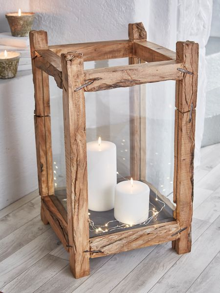 Reclaimed Wood Candle Lantern - XL - Best 25+ Wood Candle Holders Ideas On Pinterest Log Candle