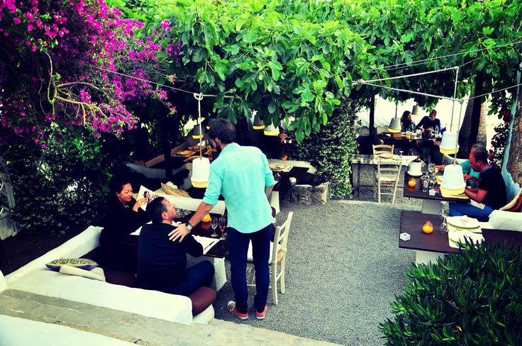 Restaurante jardín Ibiza