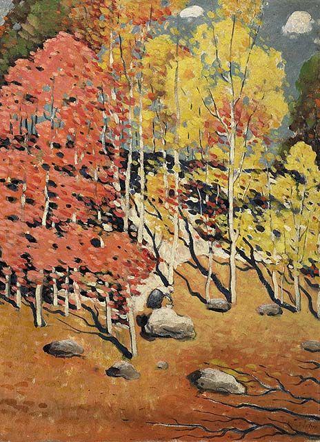 Marc-Aurèle Fortin  Paysage d'automne à Sun Valley   v. 1935   huile sur toile 73,4 x 53,8 cm Inscription: M.A. FortIN Acheté en 1968 Musée des beaux-arts du Canada (nº 15449)