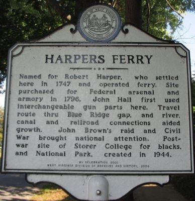 Harpers Ferry - is a historical site from the Civil War. My gramps promised his dad he would take him there and he died first but my gramps took me