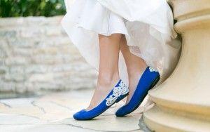 Zapatillas azules de boda 4