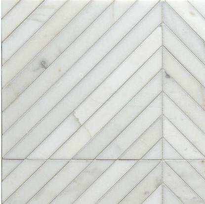 Walker Zanger, Tangent, Stone Mosaic, Honed, Calacata
