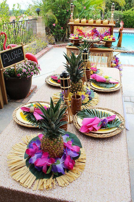 атрибуты для вечеринки в гавайском стиле фото круг получается