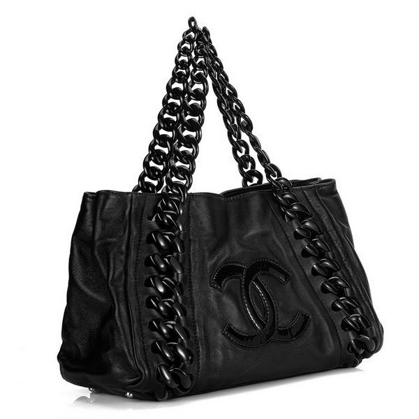 Chanel Coco Cocoon Bag 28546 Cabas Lambskin Black~My CoCo ...