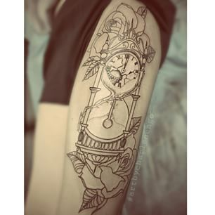 grandfather clock tattoo side - Google Search