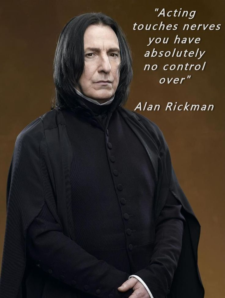 Alan Rickman Acting Quote found on Greg Bepper's Thunderbolt Theatre & Flim Productions