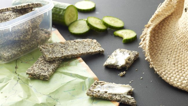 Serve these crackers with dips, mashed avocado or Homemade Cream Cheese, or keep some at work for an afternoon crisp fix.