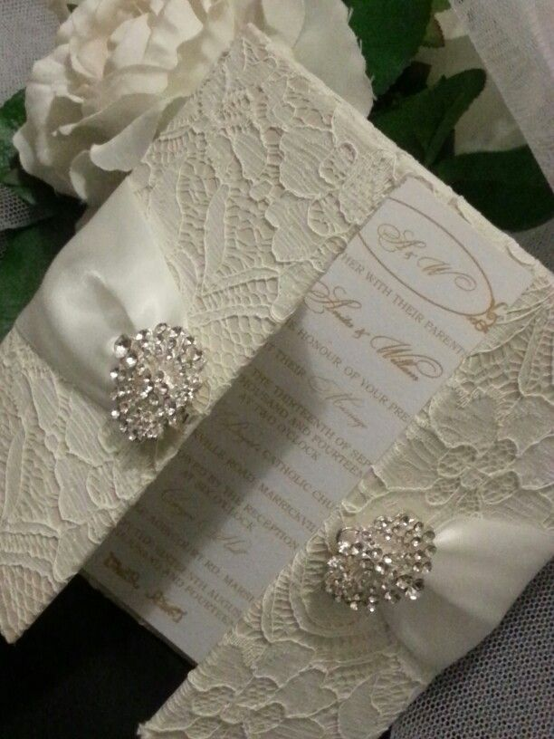 Exclusively Designed by Va Va Voom Designs Invitations and Bomboniere- Hardcover Lace Invitation- Contact us on 61414421713 for more details. Find us at www.facebook.com/vavavoomdesigns