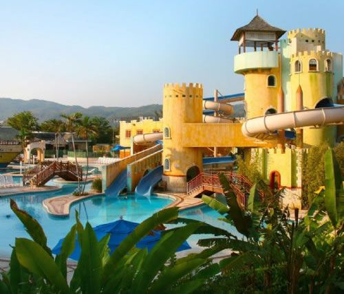 Pirates Paradise Waterpark at Sunset Beach Resort Jamaica Top 10 family hotels in the Caribbean