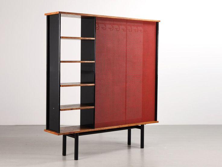 Room devider, 1956 | Jean Prouvé | Galerie Patrick Seguin | 20th Century Furniture & Architecture