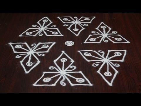 easy designs of rangoli || easy kolam rangoli || easy rangoli designs for beginners || easy rangoli - YouTube