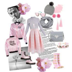 Dáma v růžové Lady in pink - styling - romantická růžová v kombinaci s šedou.