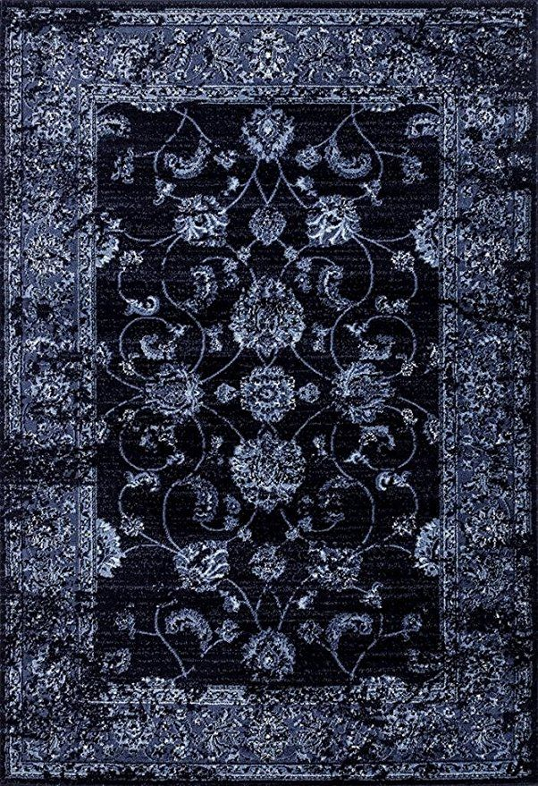 4535 Distressed Navy 5x7 Area Rug Carpet Large New Traditional Area Rugs Vintage Area Rugs Rugs On Carpet