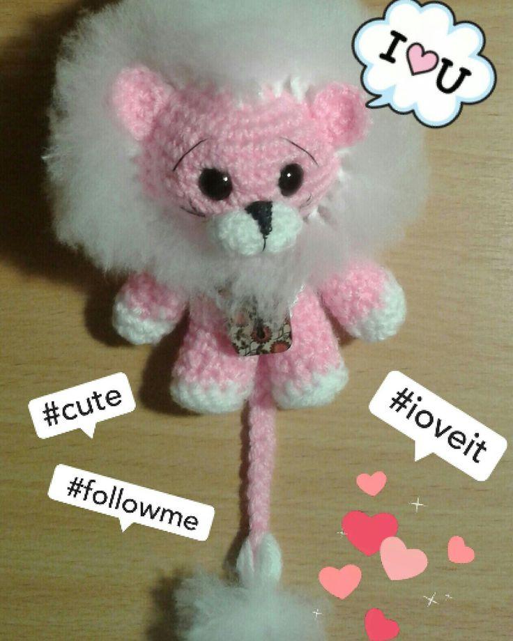 Amigurumi crochet lion handmade