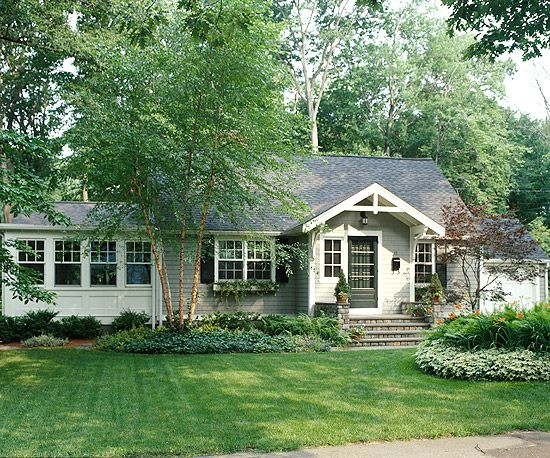 front yard landscaping: Exterior Makeover, Ranch House, House Ideas, Cottage, Front Yard, Curb Appeal, Front Entrance, Homes