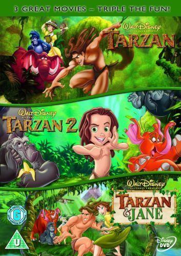 Tarzan + Tarzan 2 + Tarzan and Jane Trilogy Disney New DVD Region 4