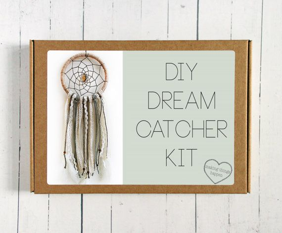 "HALF PRICE 50% Off DIY Dream Catcher Kit, 5"" Dream Catcher, Craft Kit, Bohemian, Make Your Own 5"" Dream Catcher, Boho Dream Catcher Gift Set"