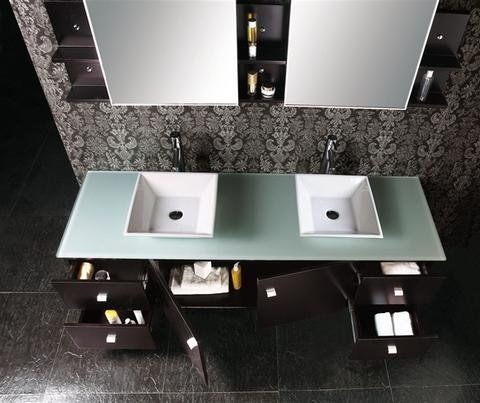 Annabelle 40 Inch Modern Bathroom Vanity Espresso Finish 20 best transitional bathroom vanities images on pinterest