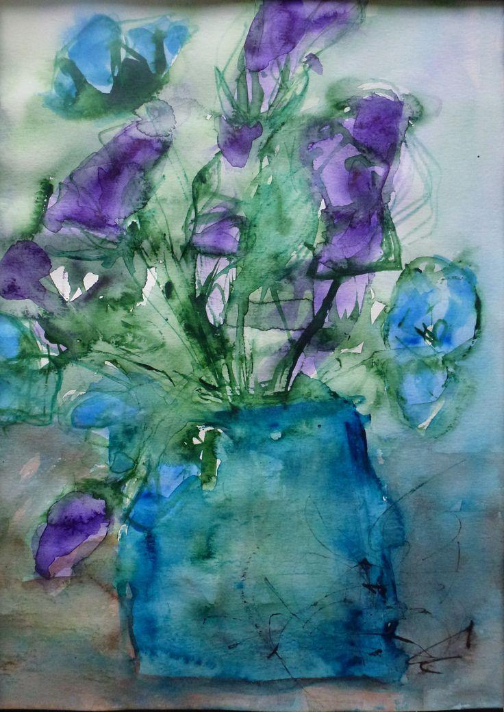 Birthday, Sirkkaliisa Virtanen,  watercolor 2014
