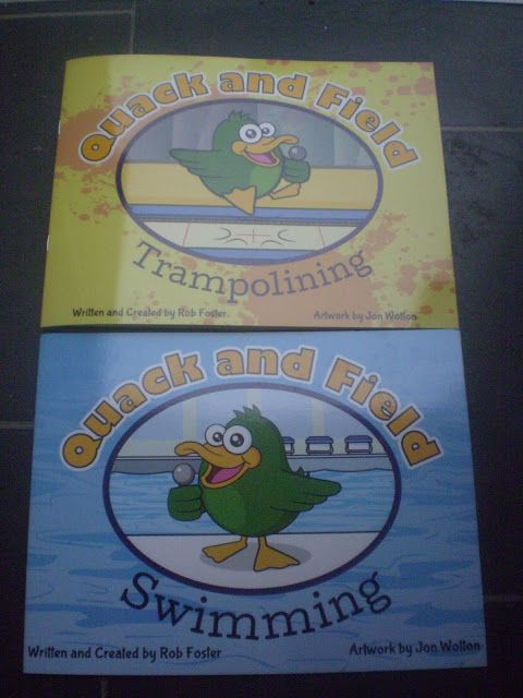 Review: Quack and Field books Trampolining and Swimming