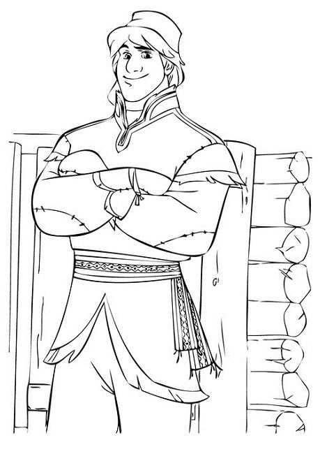coloring pages frozen kristoff doll - photo#10