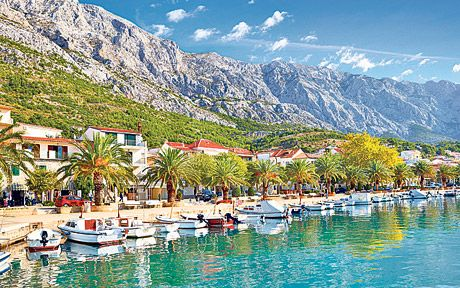 Makarska, Dalmatia, Croatia. Beautiful town on the Croatian Riviera