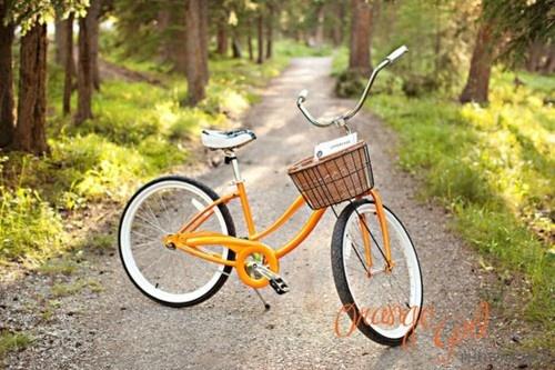 Yellow bike w/ basket