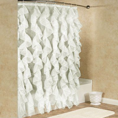 Sweet Home Collection Chic Sheer Voile Vertical Waterfall Ruffled