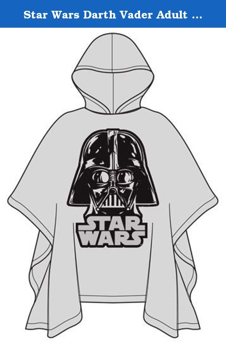 Star Wars Darth Vader Adult Poncho Raincoat, Clear. Officially Licensed Star Wars Merchandise. Featuring your favorite Star Wars Villain Character Darth Vader. Adult Sizing OSFM. 1st Quality Product!! No IR's. Great for your child or gift.