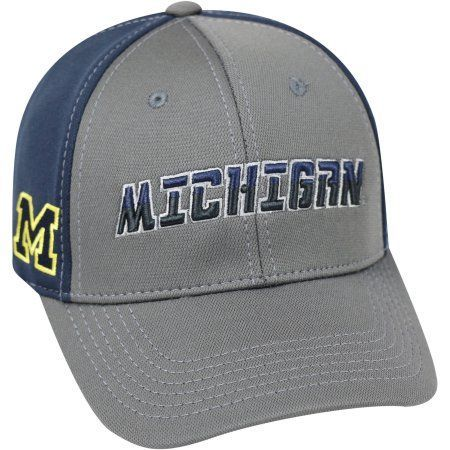 university of wolverines grey two tone baseball cap gray michigan eastern western