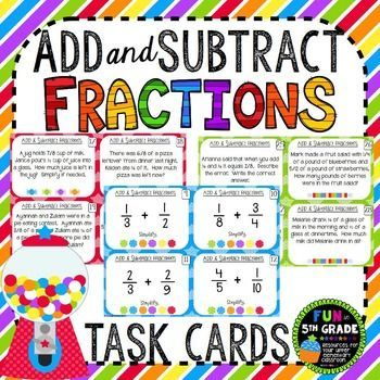 Best 25 add and subtract fractions ideas on pinterest add add and subtract fractions ccuart Images