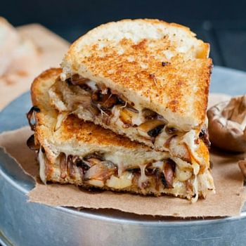 Smoked Swiss and Mushroom Grilled Cheese : drink-milk