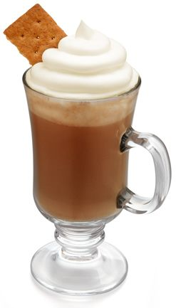 S'mores Hot Chocolate  2 parts Three Olives S'mores Vodka  4 parts Hot Chocolate  Whipped Cream  Graham Cracker  Marshmallow  Blend S'mores and hot chocolate together in a mug. Garnish with whipped cream, graham cracker, and marshmallow!