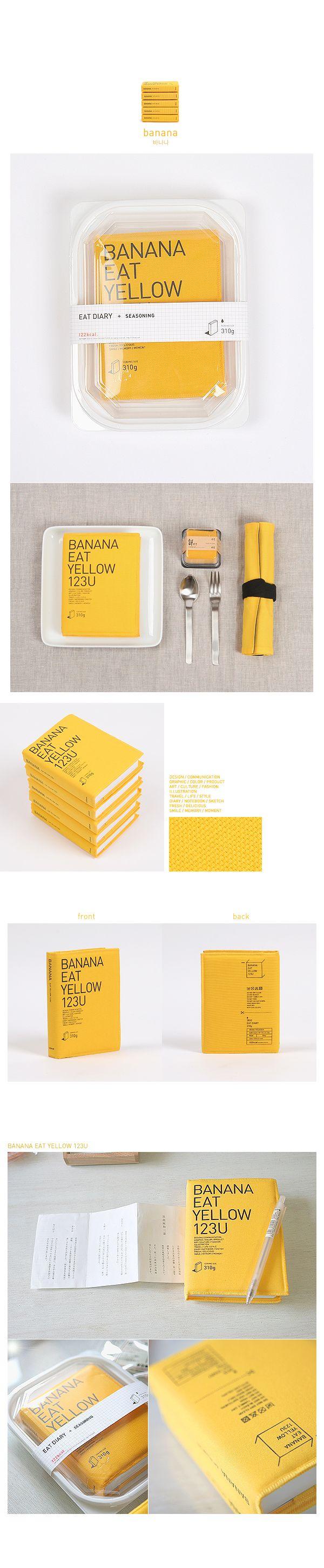Agenda Eat | Alternative yellow book on plastic packaging | Editorial design