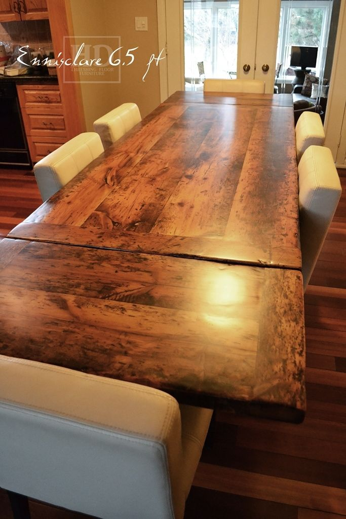 6 5 ft reclaimed wood harvest table local ontario aged for Local reclaimed wood