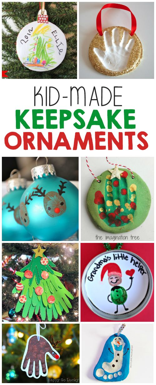 20 Keepsake Ornaments For Kids To Make - So many creative ideas from artwork ornaments, handprint & footprint, time capsules, salt dough creations and more!