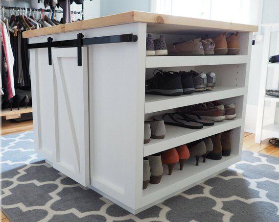 Build Plans 4 Sided Walk In Closet Island Diy Furniture Etsy Closet Island Custom Closet Storage Build A Closet