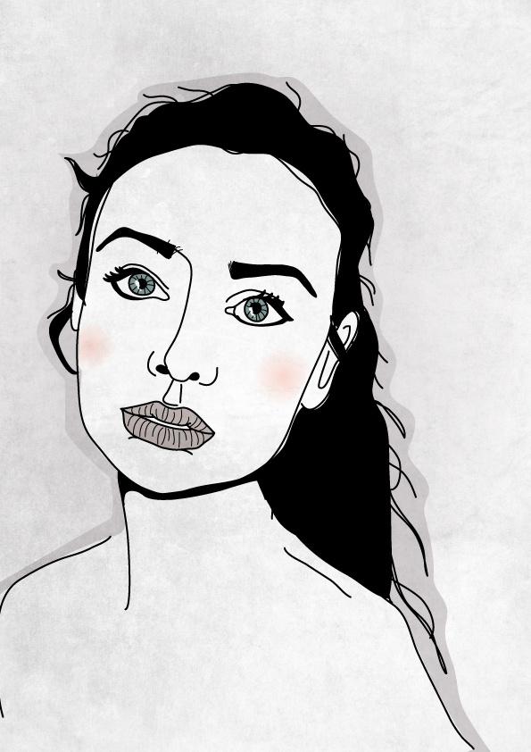 Ashley. From my blog. #illustration #portrait