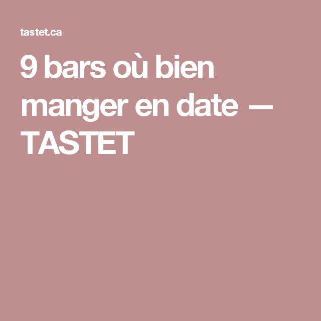 9 bars où bien manger en date — TASTET