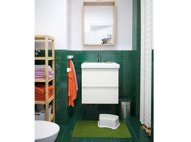 Salle de bains verte ikea petit tabouret enfant salle de bains bathroom - Tabouret enfant ikea ...