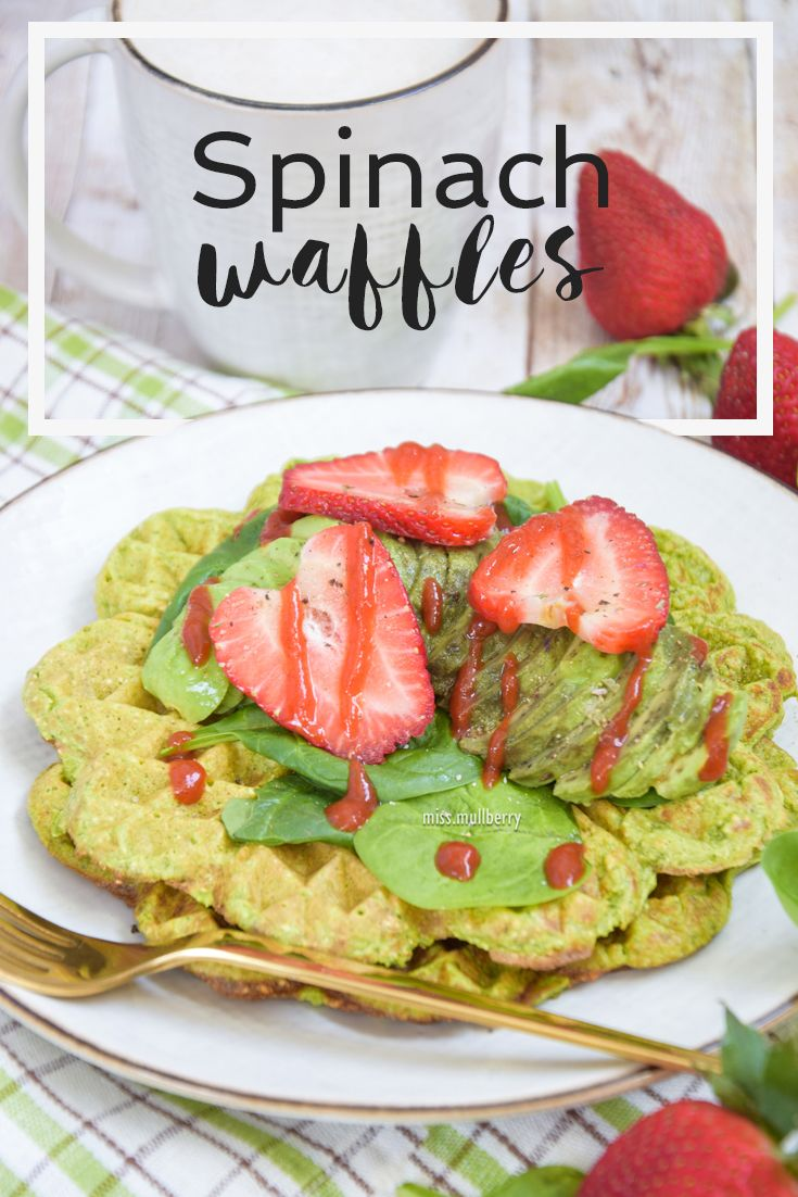 Spinach waffles make the perfect alternative to the traditional waffles! You can serve them both ways, sweet and savory. Give them a try!