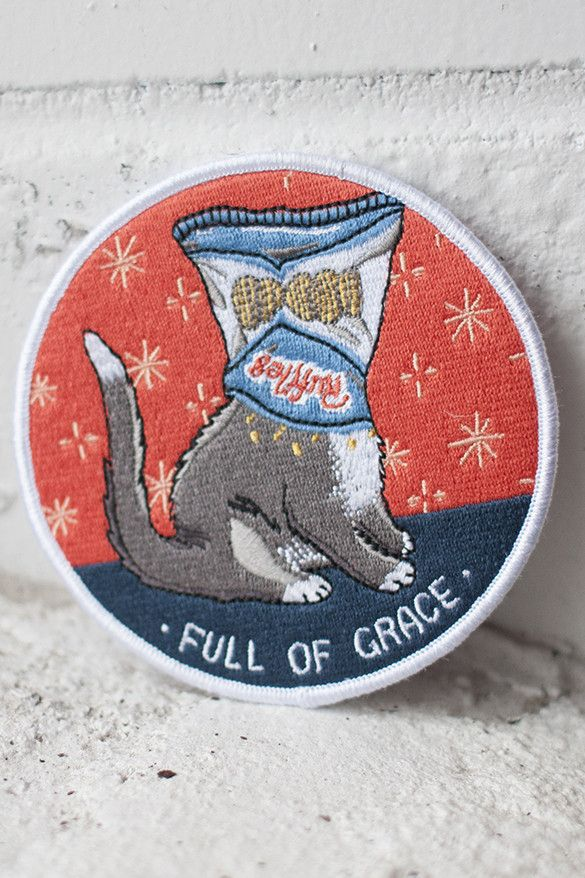 Full of Grace iron-on patch - stay at home club