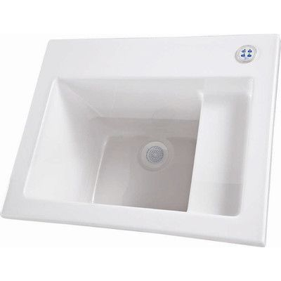 "Hydro Systems 26"" x 21"" Single Designer Delicate Touch Laundry Sink Finish:"