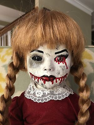 Hand Painted Creepy Doll OOAK Reborn, Horror Gothic Scary Dead Haunted Spooky
