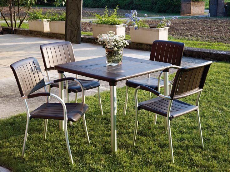 Table Maestrale 90 #cafeideas #nardi #outdoorfurniture #italianfurniture