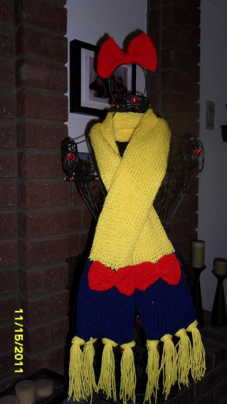 Snow white apron etsy - Snow White Inspired Scarf 25 00 Via Etsy